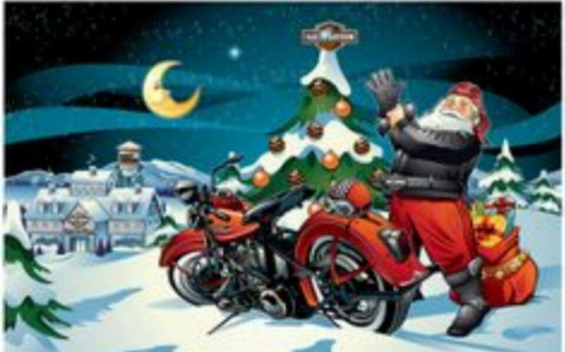 Новогоднее поздравление для байкера