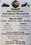 Benefit ride Paul Tegtmeier Memorial Site