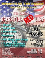 KNIGHTS OF THE FALLEN MC 5TH ANNUAL OPERATION RED