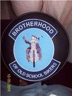 brotherhood of old school bikers